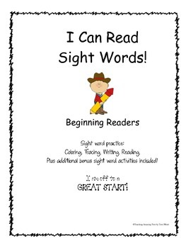 I Can Read Sight Words for Beginning Readers  NO PREP