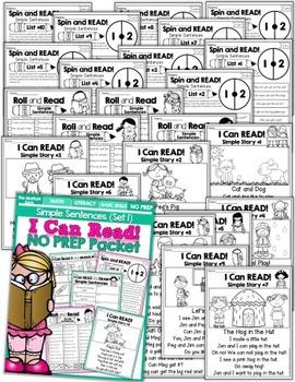 I Can Read Simple Sentences NO PREP (Set 1)
