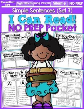 I Can Read Simple Sentences NO PREP (Set 3)