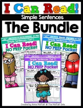 I Can Read Simple Sentences NO PREP (THE BUNDLE)