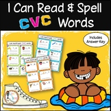 I Can Read & Spell CVC Words - 120 Phonics Sounding / Spelling Cards