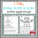 Sight Word Activity - I Can Read, Write & Draw Sight Words: Primer Edition {RTI}