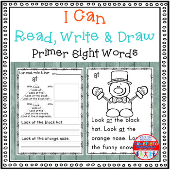 Sight Word Activity - I Can Read, Write & Draw Sight Words
