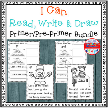 Sight Word Activity - I Can Read, Write & Draw Sight Words - The Bundle {RTI}