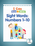 I Can Read & Write Sight Words: Numbers 1–10