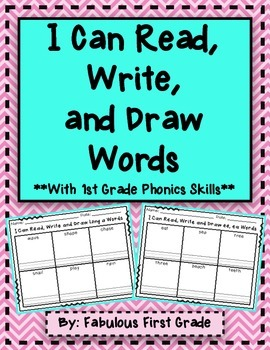 I Can Read and Draw Words **50 1st Grade Phonics Skills**