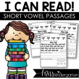 I Can Read Reading Fluency Passages Short Vowel Words | Se