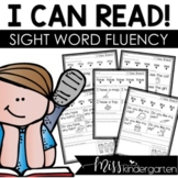 I Can Read Sight Word Fluency Passages Kindergarten Sight Words Practice