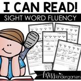 I Can Read Sight Word Fluency Passages Kindergarten Sight