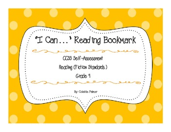 """I Can..."" 4th Grade Reading Fiction Bookmark"
