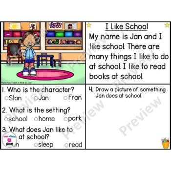 Kindergarten Story Element Worksheets 1