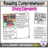 Kindergarten Story Element Worksheets-Set 1