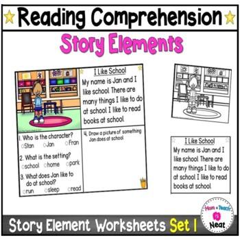 Story Element Worksheets for Kindergarten
