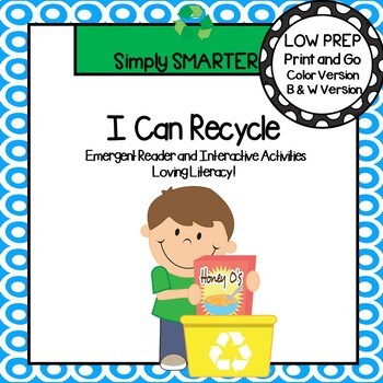 I Can Recycle Emergent Reader Book AND Interactive Activities