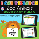 I Can Research - Digital Zoo Animals Research | Distance Learning