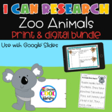 I Can Research Animals BUNDLE - Digital and Print | Distan