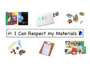 I Can Respect My Materials Social Story