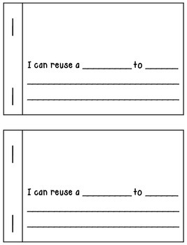 I Can Reuse Book (Creative Writing Activity)