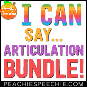 I Can Say... Articulation Workbook Bundle by Peachie Speechie