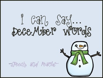 I Can Say...December Words
