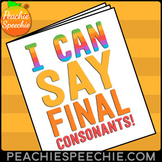 I Can Say Final Consonants - Speech Therapy Workbook