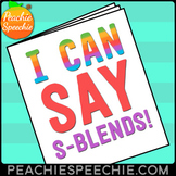 I Can Say S-Blends Speech Therapy Workbook