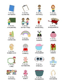 I Can Say.....   Speech Therapy Sticker Practice Book for B