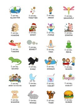 I Can Say.....   Speech Therapy Sticker Practice Book for G