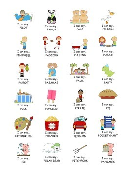 I Can Say.....   Speech Therapy Sticker Practice Book for P