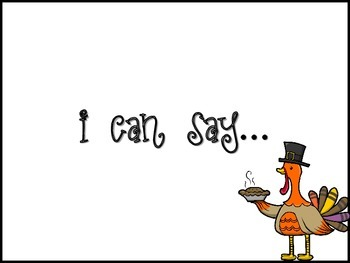 I Can Say... Thanksgiving Words