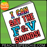 I Can Say the F and V Sounds Articulation Workbook for Speech Therapy