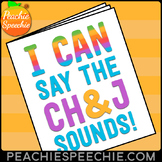 I Can Say the CH and J Sounds Articulation Workbook
