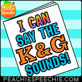 I Can Say the K and G Sounds Articulation Workbook