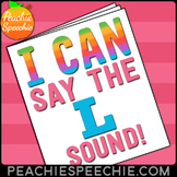 I Can Say the L Sound Articulation Workbook