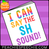 I Can Say the SH Sound Speech Therapy Articulation Workbook by Peachie Speechie
