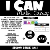 I Can Second Grade Math Games: Shapes