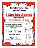 I Can See Apples Mini Book - Kindergarten Literacy Center