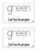 "Interactive Color Word Reader -""I Can See GREEN"""