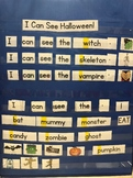 I Can See Halloween Pocket Chart Cards
