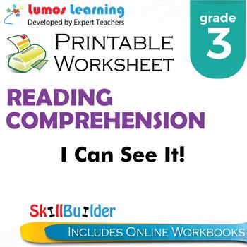 I Can See It! Printable Worksheet, Grade 3