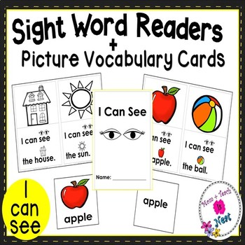 Sight Word Emergent Reader- Book & Vocabulary Cards:I Can