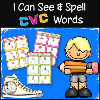 I Can See & Spell CVC Words - 120 Phonics Sounding Cards