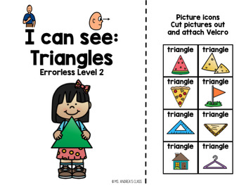I Can See - Triangles (Errorless Leveled Adapted Book)