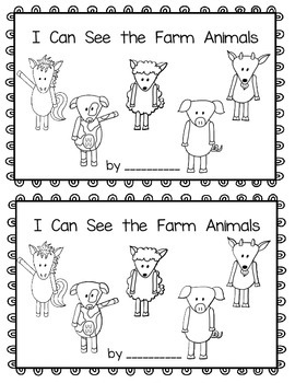 I Can See the Farm Animals~ emergent reader