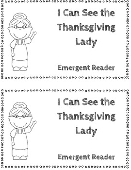 I Can See the Thanksgiving Lady Emergent Reader