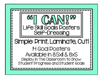 I Can! Self-Dressing Life Skills Posters