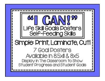I Can! Self-Feeding Life Skills Posters