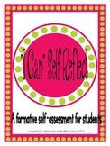"""I Can"" Self Reflect...Student Checklist"