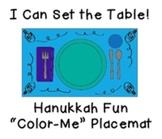 "I Can Set the Table: ""Color-Me"" Hanukkah Placemat"