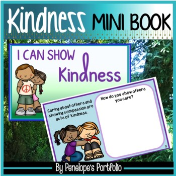 Kindness Activity:  Kindness Mini Book